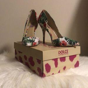 Tropical print heels!